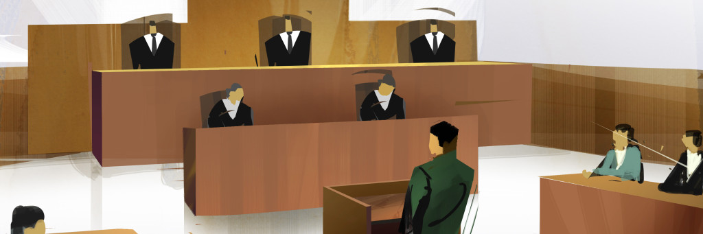Tingsrätten är första steget i en rättsprocess.